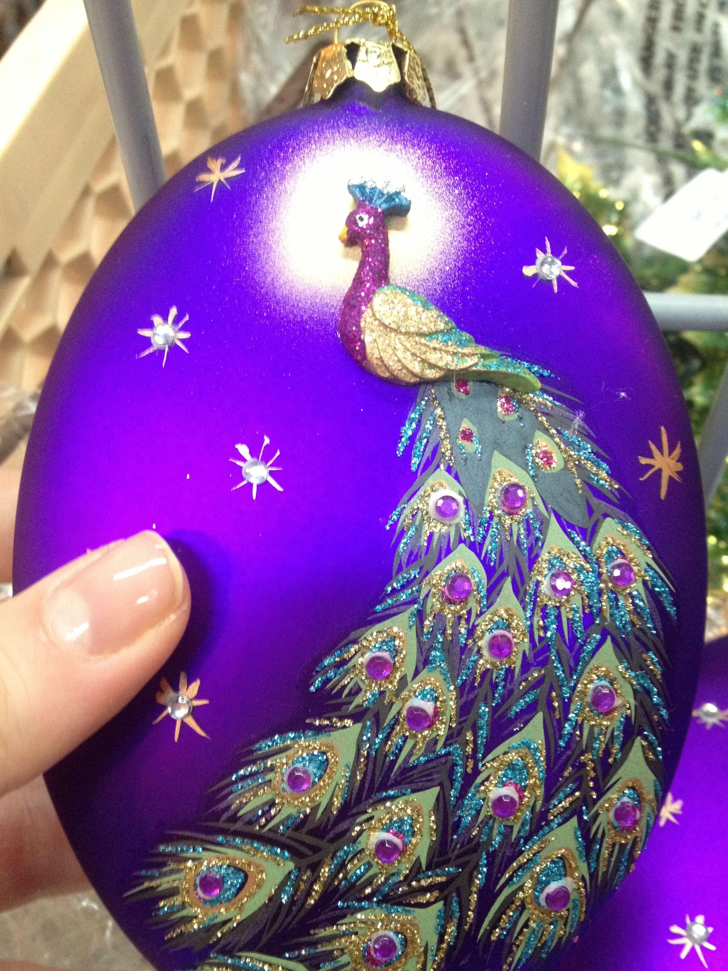 christmas 2012 peacock ornament at stats pasadena ca
