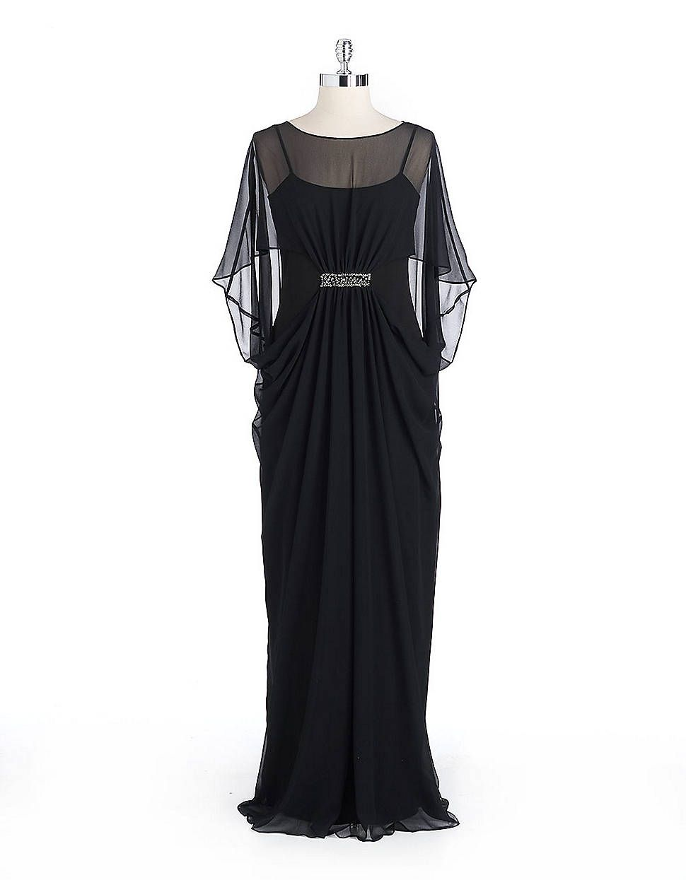 Embellished Chiffon Cocoon Gown Lord And Taylor Fashion