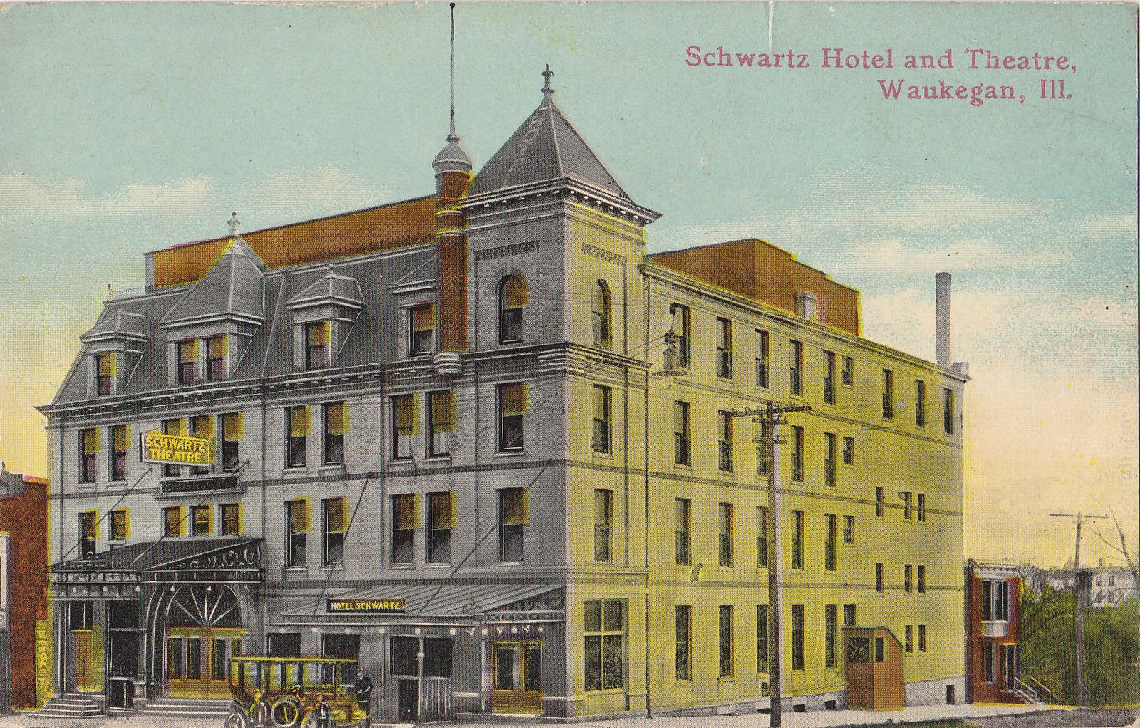 Schwartz Hotel And Theatre Waukegan Il Ebay
