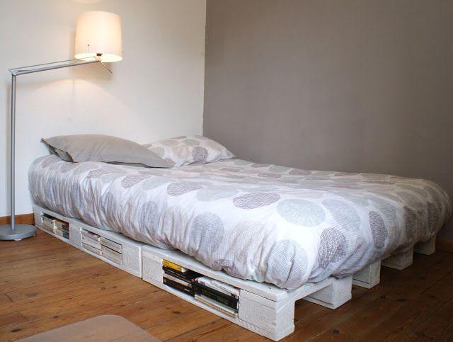 Sommier En Palettes De Bois sommier en palette de bois   house   pinterest   pallet beds, pallet