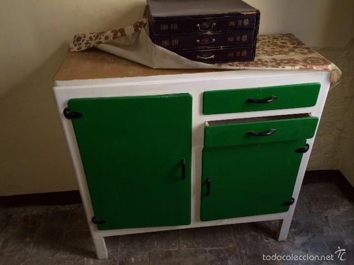 Alacena de cocina vintage aÑos 60 verde y blanco   p15 (vintage ...