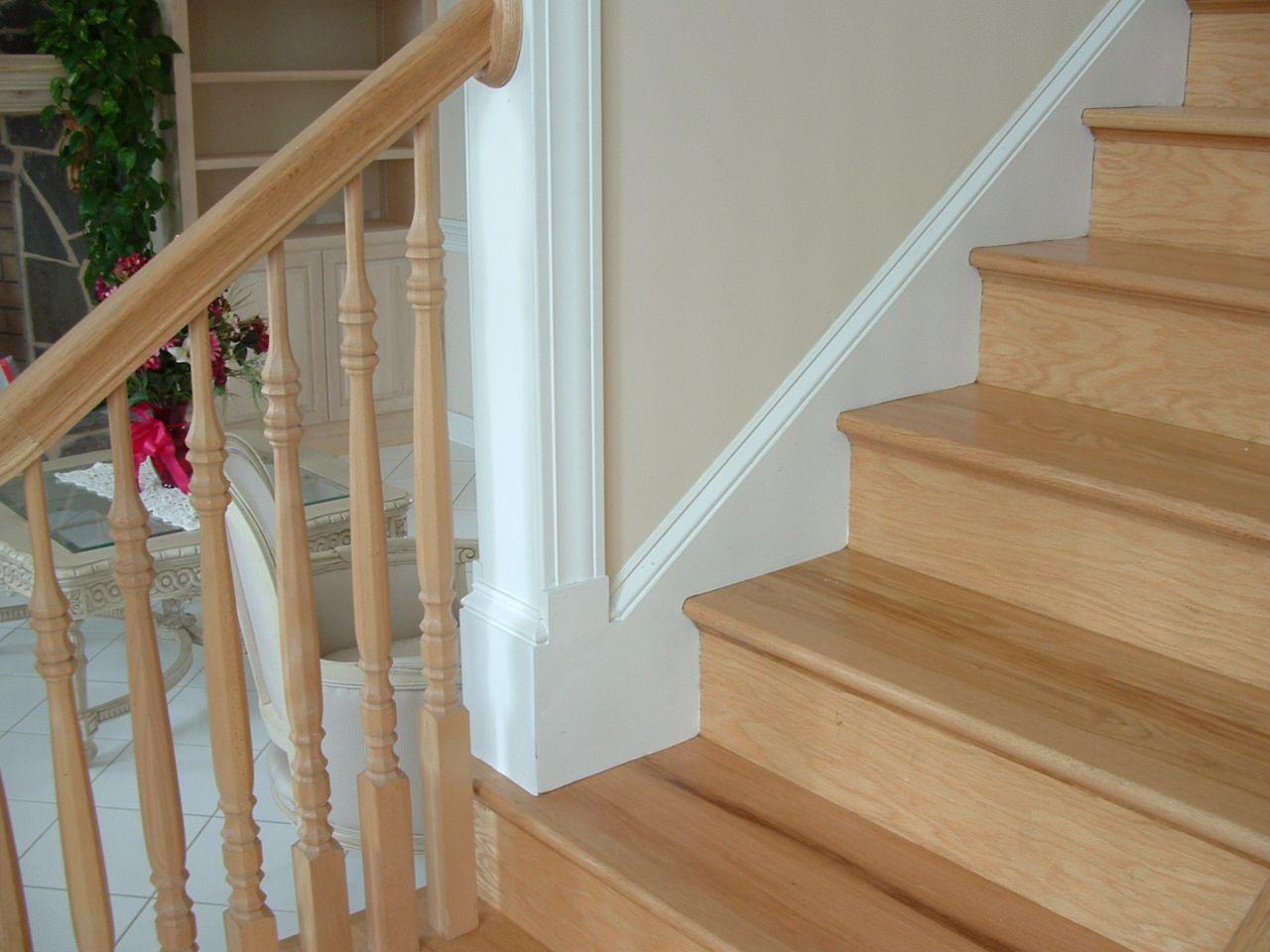 Best Trim On Stair Skirt Stair Treads Wood Stair Treads Oak 640 x 480
