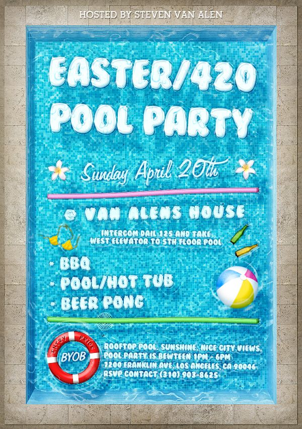 a easter pool party on 4 20 great flyers for great people pool