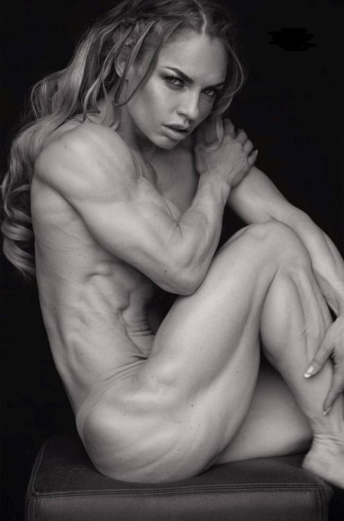 Sexy lady musculer naked useful