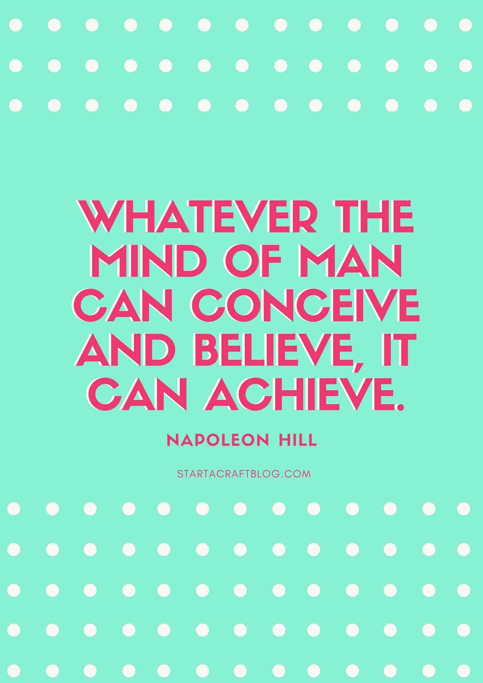 Napoleon Hill Quote Learn how to set smarter goals for