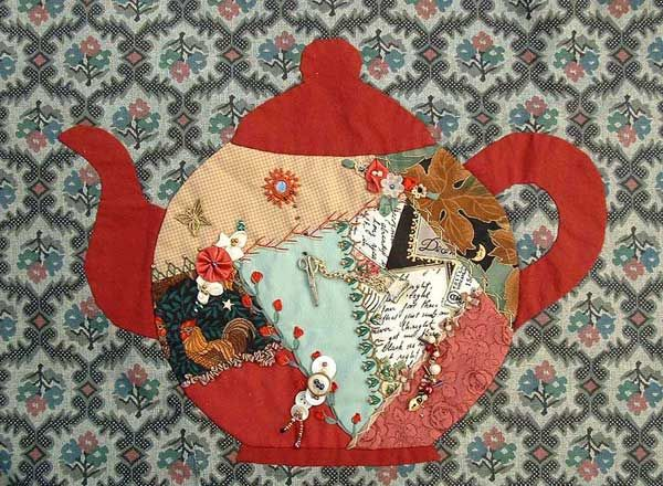 Teapot - Free Crazy Quilt Pattern | ... , Crazy Quilting , Free ... : free quilting lessons - Adamdwight.com