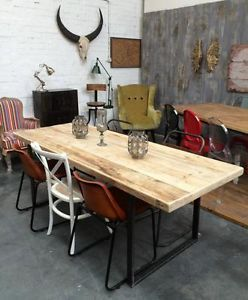 Vintage 140 X 80cm Industrial Rustic Reclaimed Plank Top Dining Table... UK  Made