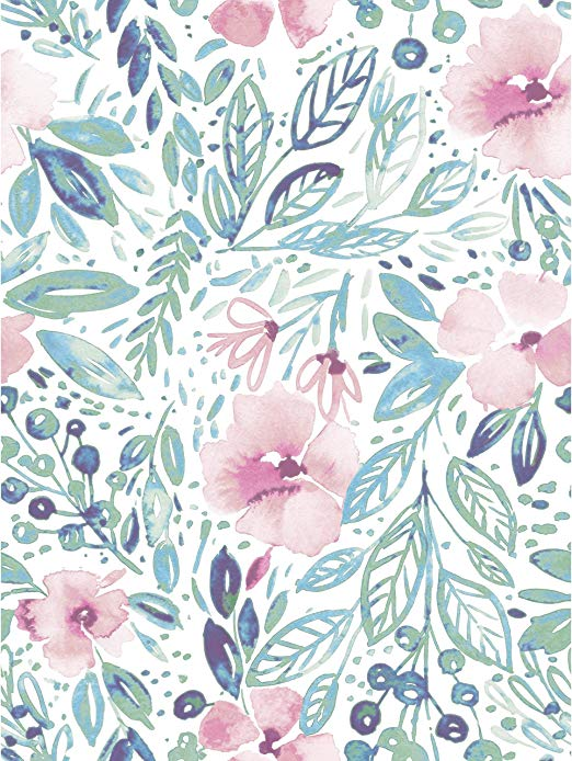 Amazon Com Roommates Clara Jean April Showers Pink Peel And Stick Wallpaper Removable W Floral Wallpaper Iphone Floral Wallpaper Watercolor Floral Wallpaper