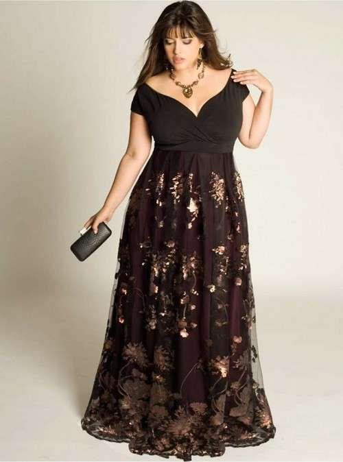 d36437887 Vestidos para madrinas gorditas  Los mejores diseños - Elegante vestido  largo para madrinas gorditas