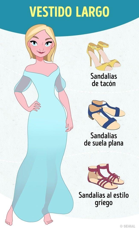 bbef1b31a Tips infalibles para elegir calzado para 14 tipos de vestido ...