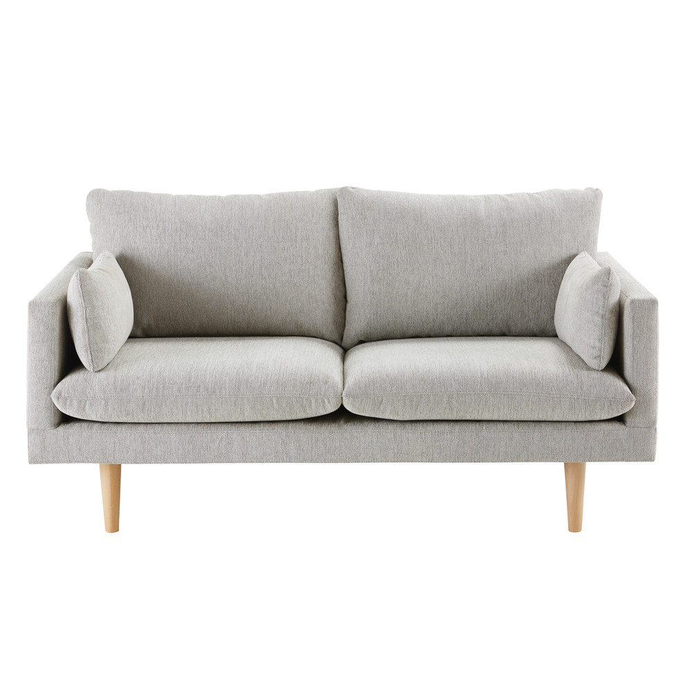 Sofa De 2 Plazas Gris Antracita Maisons Du Monde Canape Maison