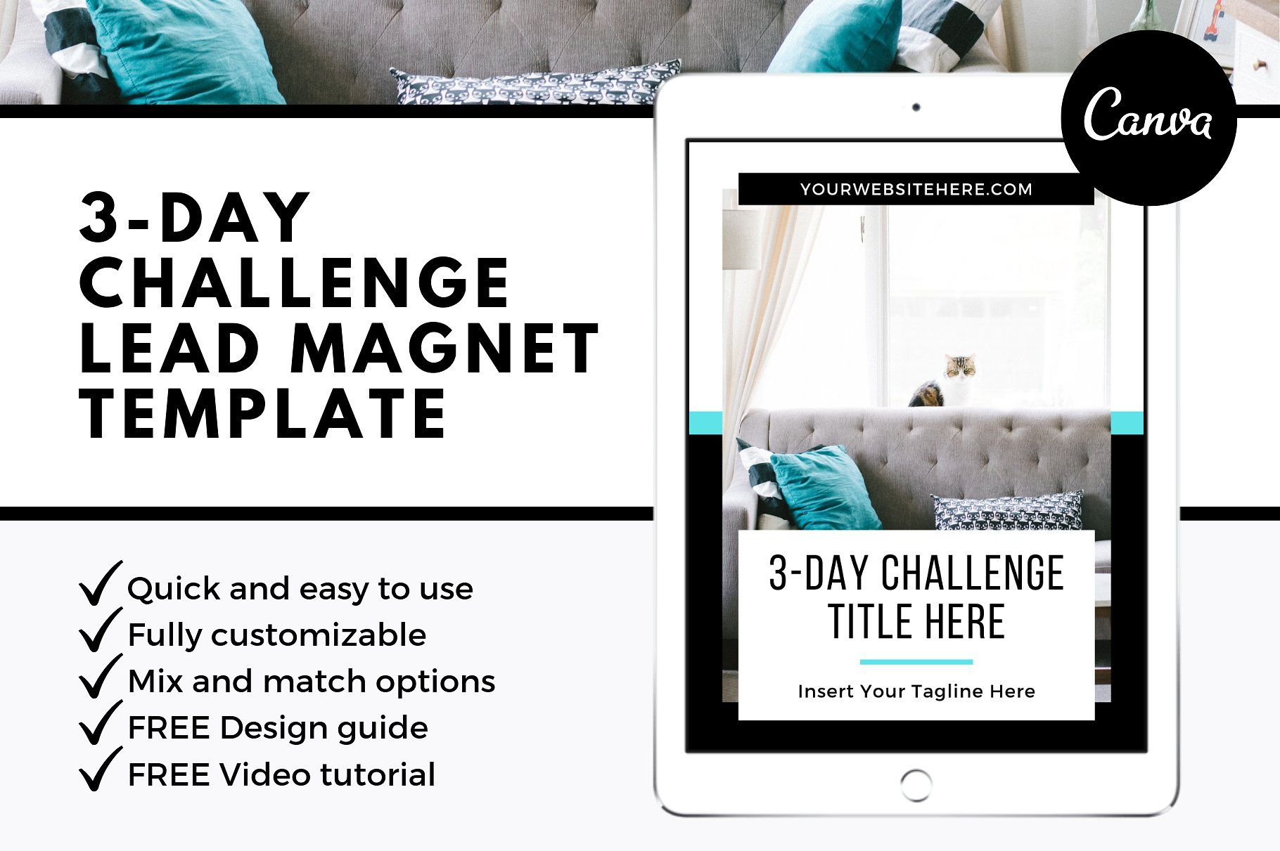 3 Day Challenge Lead Magnet Template Brain Dump Daily