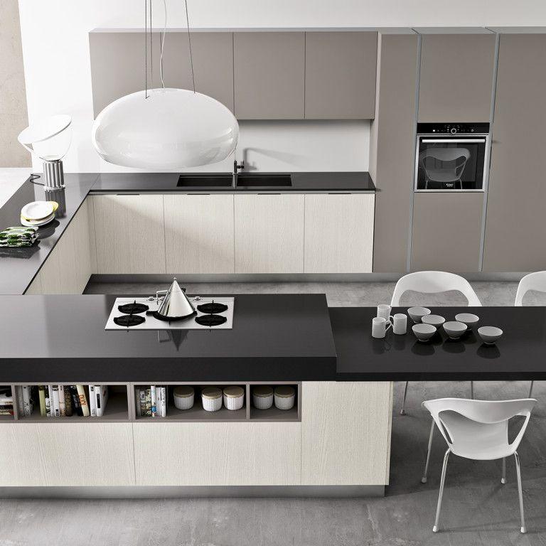 Cucina Moderna Ad Angolo Con Isola.Cucina Moderna Con Penisola Angolo Nel Nostro Negozio A