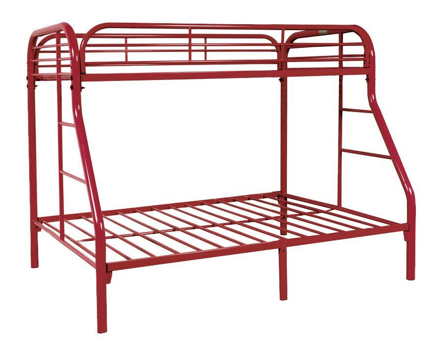 Bunkbed Twin Full Red Be 4502 R Metal Bunk Beds Bunk Beds Vintage Boys Bedrooms