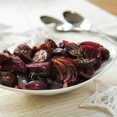 best christmas side dishes roast beetroot red onion and chestnuts with maple syrup christmas recipes red online christmas pinterest christmas - Christmas Side Dishes Pinterest