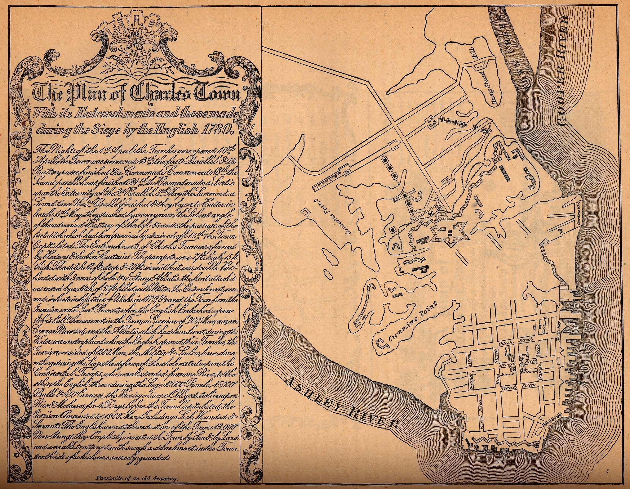 1790 map of Charleston City South