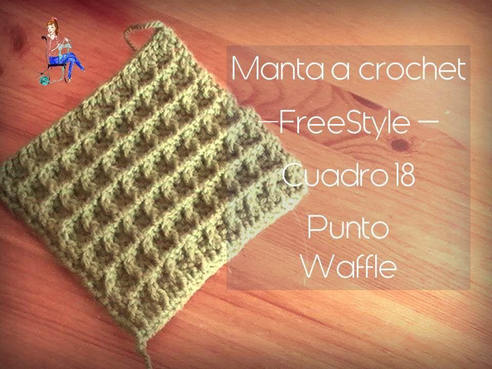 manta freestyle cuadro18 punto waffle (zurdo) | CROCHET PARA ZURDOS ...