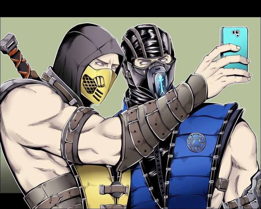 Scorpion Sub Zero Selfie Mortal Kombat Igry