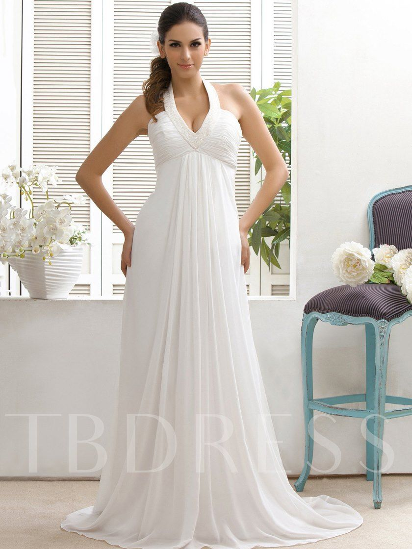 Empire Waist Beading Beach Wedding Dress Empire Waist Wedding Dress Wedding Dresses Under 100 Plain Wedding Dress