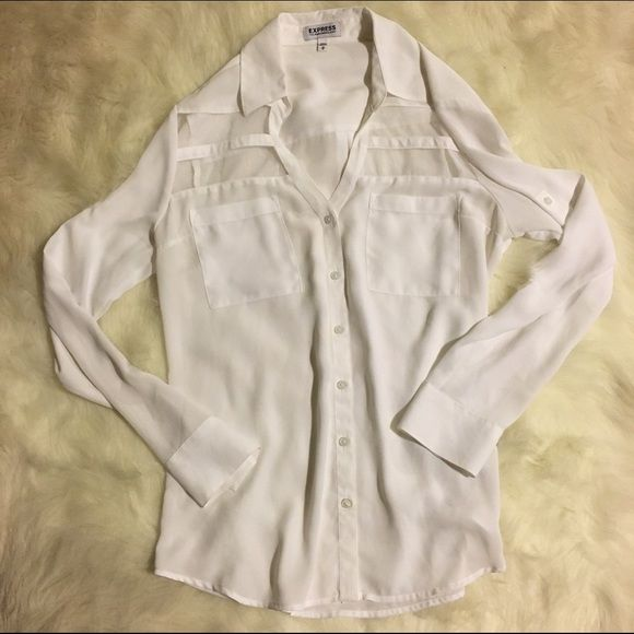 Express Portofino Shirt with Mesh Panels - Size M Never worn! Express Tops Button Down Shirts