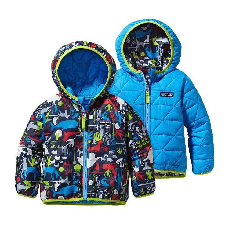 Patagonia Baby Reversible Puff-Ball Jacket - Little Arctic Kin  Navy Blue  LANB d660784f925e
