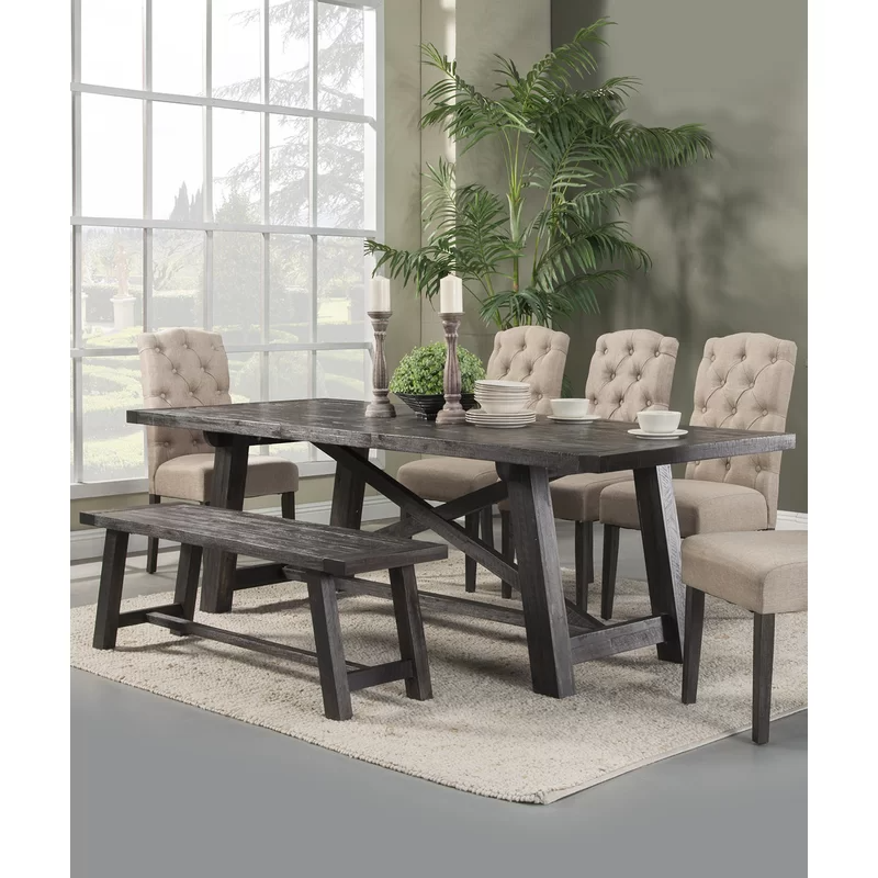 Pin By Tina Miller On Home Ideas Dining Room Sets Solid Wood Dining Set Modern Farmhouse Dining
