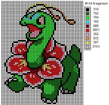 Crochet Fanatic: Pokemon 152-164: Chikorita, Bayleef, Meganium ...