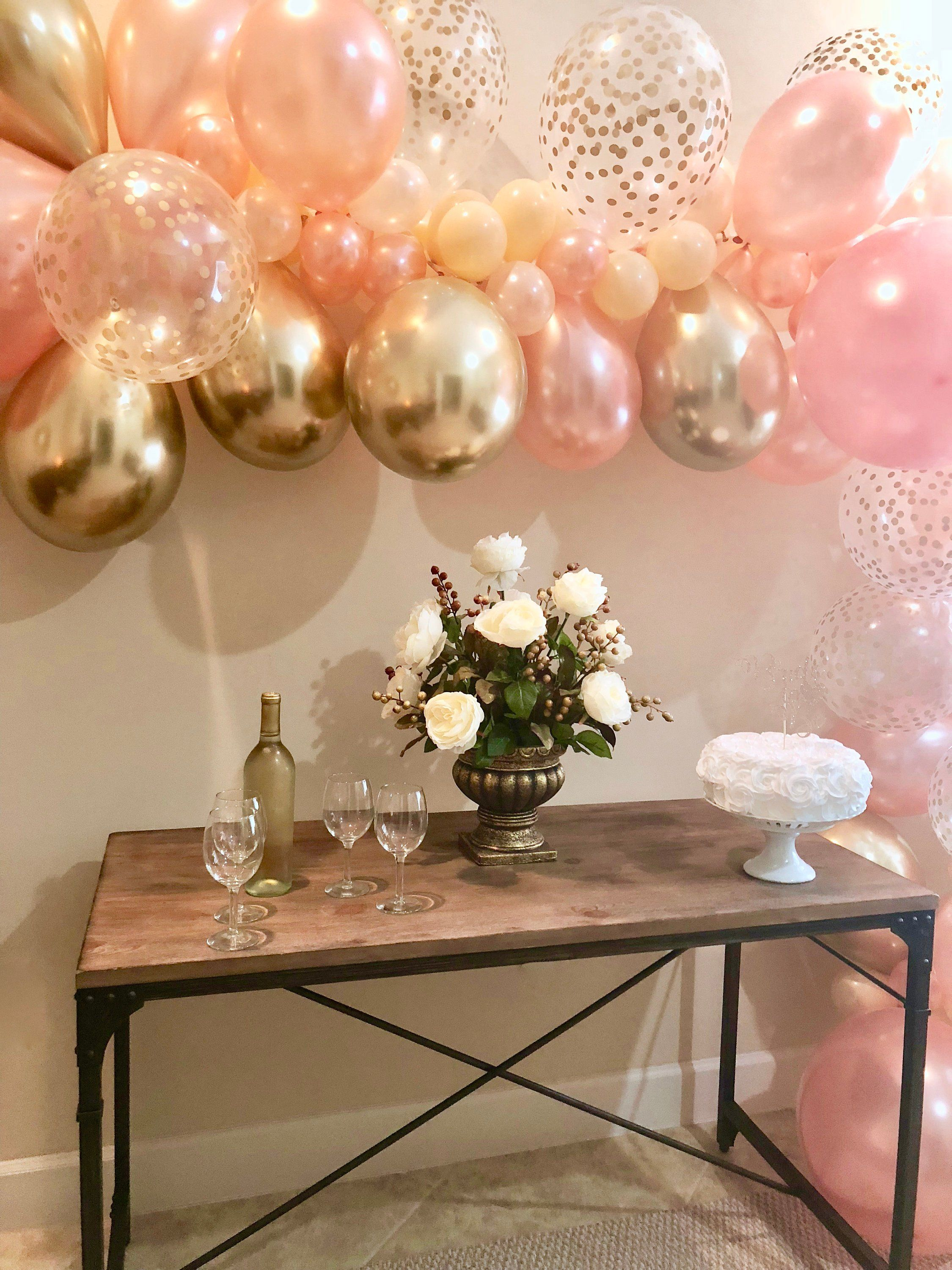 Rose Gold Balloon Garland DIY Kit Rose Gold New Chrome Gold