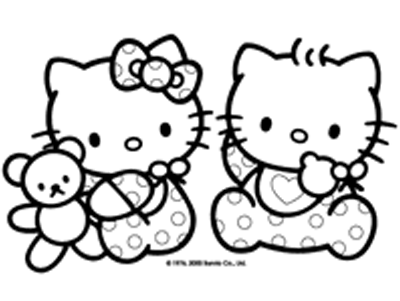 Free Printable Hello Kitty Coloring Pages For Tensley Pinterest