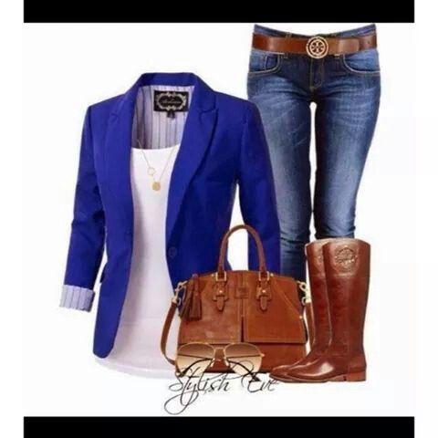 Blaiser 34 Moda In 2019 Jeans Y Blusa Blanca Vestidos