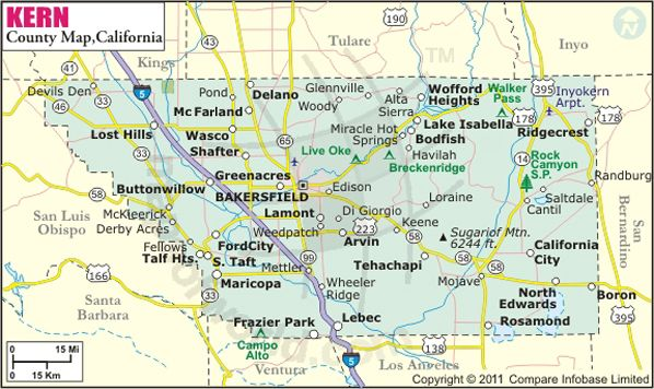 Kern County Map Pictures of Kern, California | Kern County Map, Map of Kern County