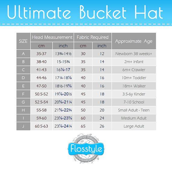 ULTIMATE BUCKET HAT Pattern! Newborn to Adult. Brims; short, long ...