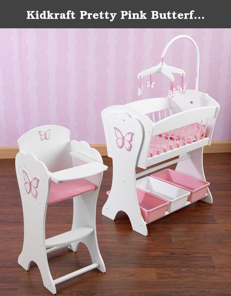 Kidkraft Pretty Pink Butterfly Doll Furniture Set The Kidkraft