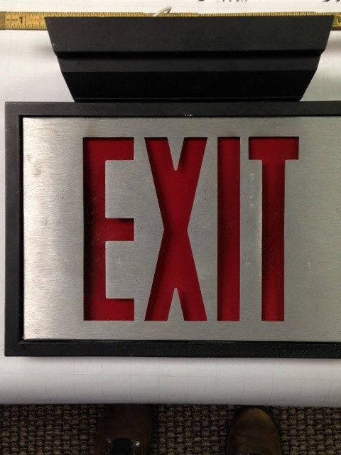 Original Exit Sign From The 80s In Working Order And Still Wired
