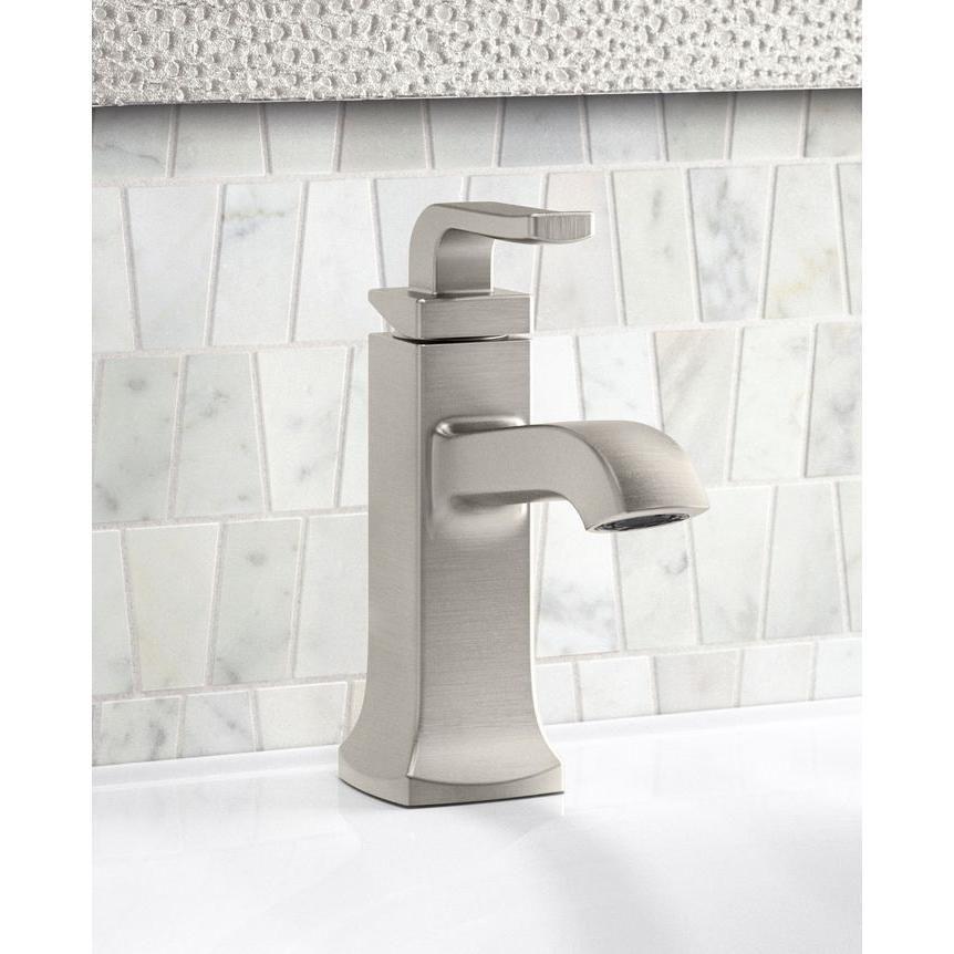 Kohler Rubicon Single Hole Single Handle Bathroom Faucet In Vibrant Brushed Nickel Single Handle Bathroom Faucet Bathroom Faucets Faucet Kohler single handle bathroom faucets