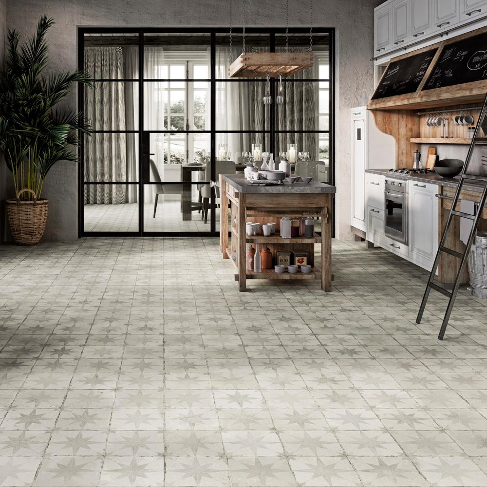 Merola Tile Kings Star White 17 5 8 In X 17 5 8 In Ceramic Floor And Wall Tile 11 02 Sq Ft Case Fpestrw The Home Depot Merola Tile Ceramic Floor House Tiles