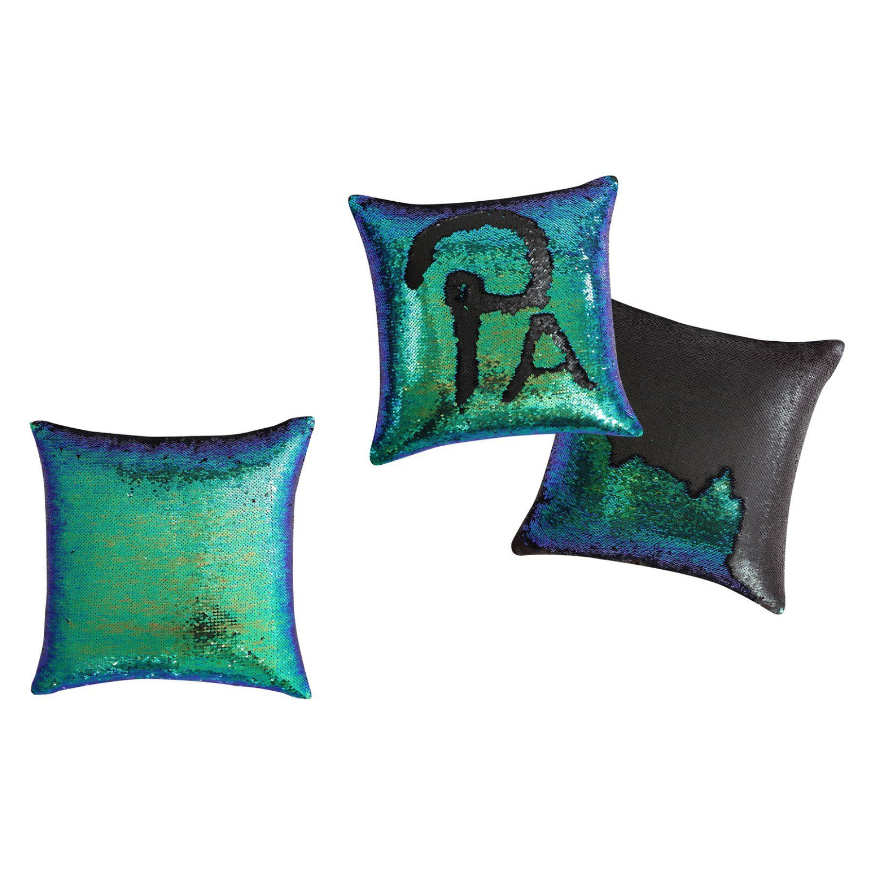 VCNY Adella Sequin Mermaid 16 in. Throw Pillow - A3L-PLW-1616-I2-AQ