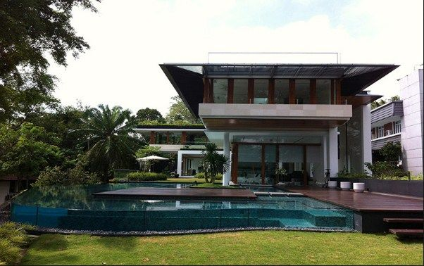 Singapore bungalow house design