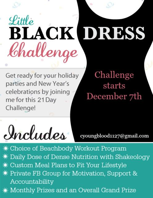 A Fit Chick Little Black Dress Challenge End The Year Reaching