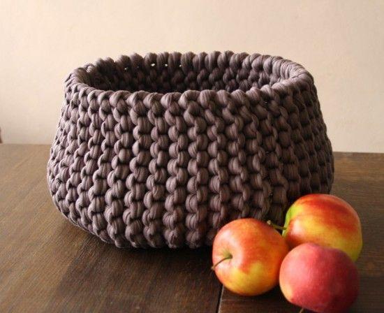 Strickkorb aus newline verbrauch ca 3 bollen textilgarn for Decken streichen leicht gemacht