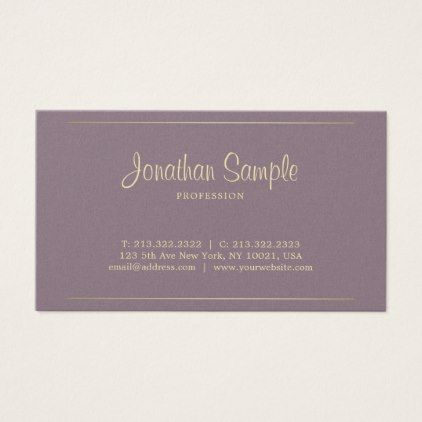 Businessman handwritten script classy design luxe business card reheart Image collections