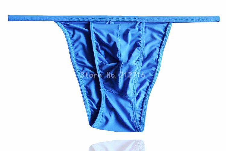 6 colors available Sheer string bikini panties with pouch