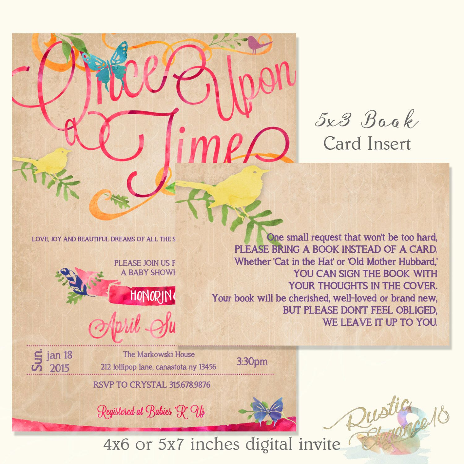 Once Upon A Time Baby Shower 2 - Story Book Theme- Whimsical--Book ...