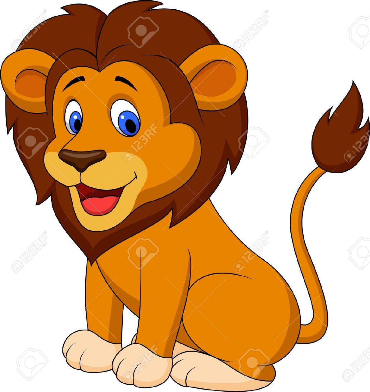 hight resolution of lion goofy clipart 1