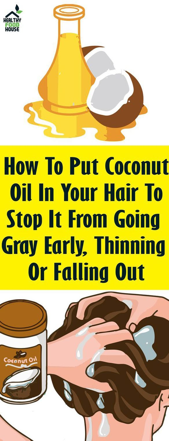 How To Put Coconut Oil In Your Hair To Stop It From Going ...