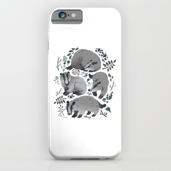 Badgers of the forest iPhone & iPod Case by Erika Biro   Society6