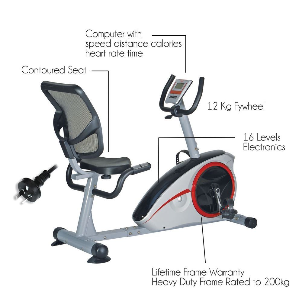 Details About Free Post New Endurance Recumbent Exercise Bike Magnetic Heavy Duty Home Gym