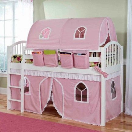Girls bed canopy ideas castle beds for girls loft plans for Princess bed blueprints