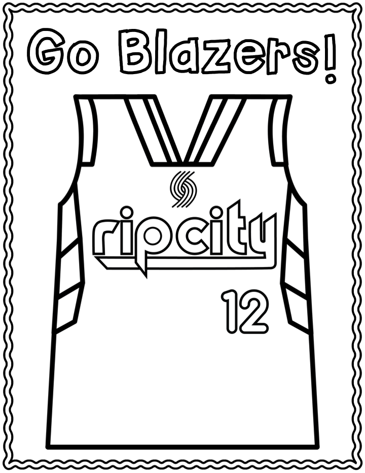 NBA Playoff Portland Trailblazers Coloring page