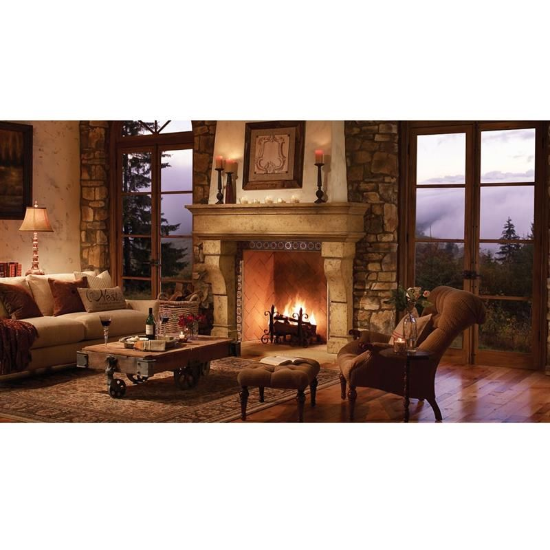 The Bold And Luxurious Appearance Of The Palacio Eldorado Fireplace Surround  Make It A Natural Focal Point For Any Space. This Rustic And Classic Living  ...
